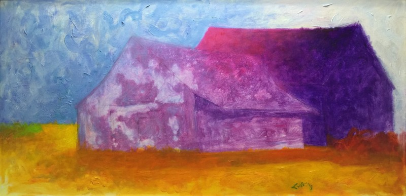 "Haunting Magic of an American Barn #1 - 30"" x 54"""