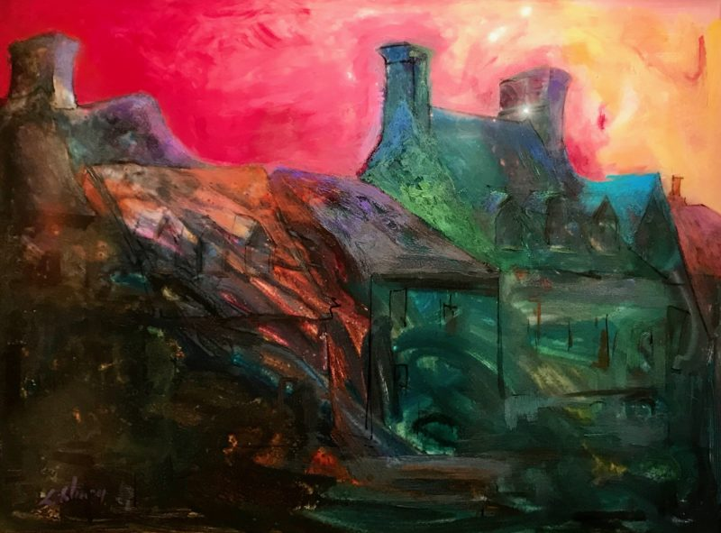 "Chimneys - 38"" x 48"""